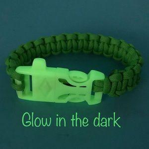 "Other - Survival Paracord Bracelet w/ Firestarter Flint 8"""